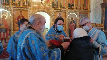 Сретение Господне наприходе Успенского кафедрального собора города Коломны