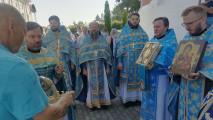Престольный праздник вТихвинском храме города Коломны